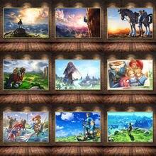Игровой плакат украшение картина дыхания дикой природы на масляном