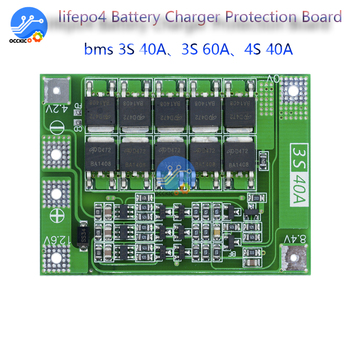 Lifepo4 smart BMS 3S 4 S 40A 60A 12v 48v 18650 Lithium-Batterie Ladegerät Schutz balance Board mit balancer equalizer DIY kit