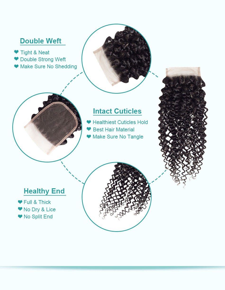 curly hair lace closure07
