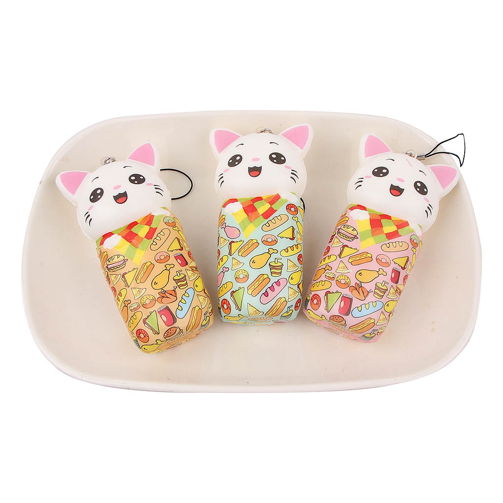 Mini Adorable Cat Doll Slow Rising Kids Stress Reliever Decompression Toys Novelty Squeeze Toy Color Cat Simulation Fun To L102
