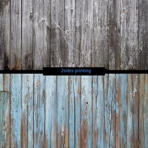Image 1 - フォトスタジオ 55X86cm 2 辺印刷グレー木製黒青色の背景カメラ写真