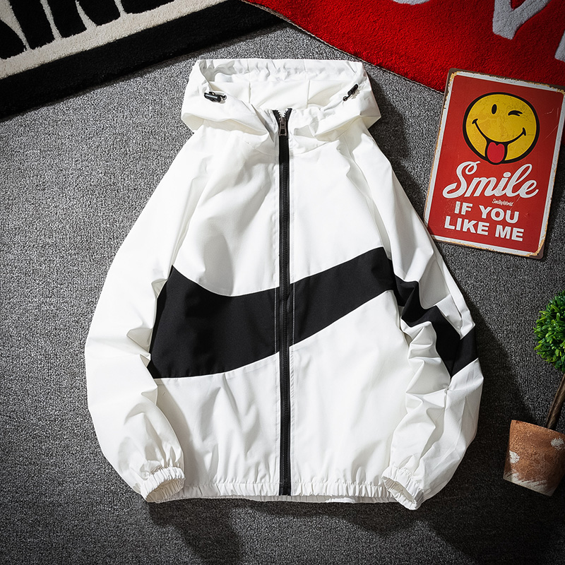 Spring and autumn men's jackets hip-hop windbreaker hooded casual zipper shirt men's casual street men's jackets