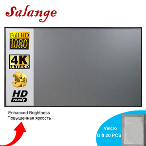 Salange Projector Screen,72 84 100 120 inch Reflective Fabric Cloth For YG300 T6 XGIMI H2 HALO Mogo Xiaomi DLP Projector(China)