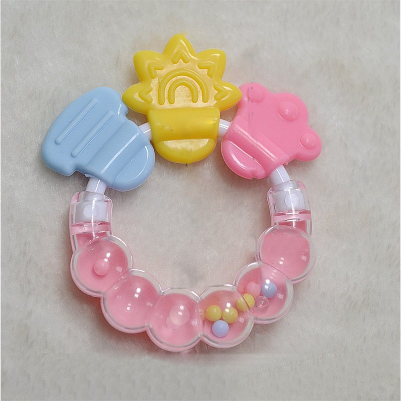 2019 Educational Baby Toy Cartoon Teether Teeth Biting For Babies Rattle Toy For Bed Bell Silicone Handbell Jingle Toys#25