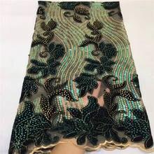 Африканская бархатная кружевная ткань с вышивкой, французская сетка, блестки, кружево 2019, высокое качество, нигерийский тюль, кружевная ткань, JX2388 1