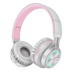 Rose Bluetooth Headphone Bass Wireless Headphones 7 Colors Glow With MIC Support TF Card For Phone Xiaomi iPhone PC smart phone