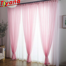 White/Blue/Yellow/Pink Solid Tulle Voile for Living Room White Yellow Panel Pink Window Drape Church CurtainWP184#50