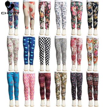 2019 Girls Leggings Baby Girl Clothes Camo Pencil Pants Soft Cotton Kids Trousers Printing Flower Children Kids Leggings Pants summer harem pants for baby girl clothes cotton and linen pants trousers ankle length flower print pants children leggings