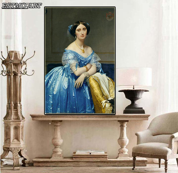 Canvas World Famous Painting Replica For Jean Auguste Dominique Ingres Oil Paintings Prints Beautiful Girl Wall Pictures Decor image