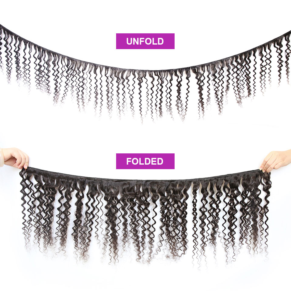 Image 2 - 36 40 Inch Curly Bundles With Closure Deep Wave Brazilian Hair Weave Bundles With Closure Double Drawn Remy Human Hairbundles with closurebundles with lace closurebundle hair -