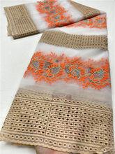 Pgc африканская кружевная ткань с вышивкой камнями в нигерийском