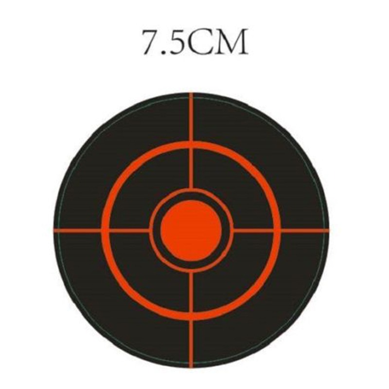 Diameter 7.5Cm 250Pcs/Roll Splatter Target Shoot Practice Stickers Set Accessory