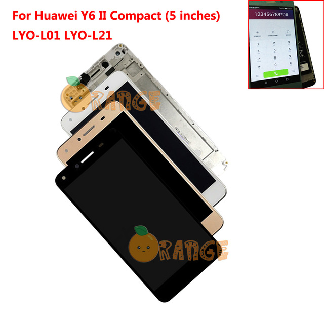 """New Replacement LCD Display+ Touch Screen + Frame For Huawei Y6 II Compact Honor 5A LYO L01 LYO L21+ 5"""" Sensor Assembly"""