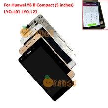 """Yeni yedek LCD ekran + dokunmatik ekran + çerçeve için Huawei Y6 II kompakt onur 5A LYO L01 LYO L21 + 5 """"Sensörü meclisi"""