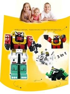 Image 2 - Cubo di Assemblaggio Blocchi di Costruzione Giocattoli Educativi Action Figure Trasformazione Numero di Robot di Deformazione Robot Giocattolo per I Bambini