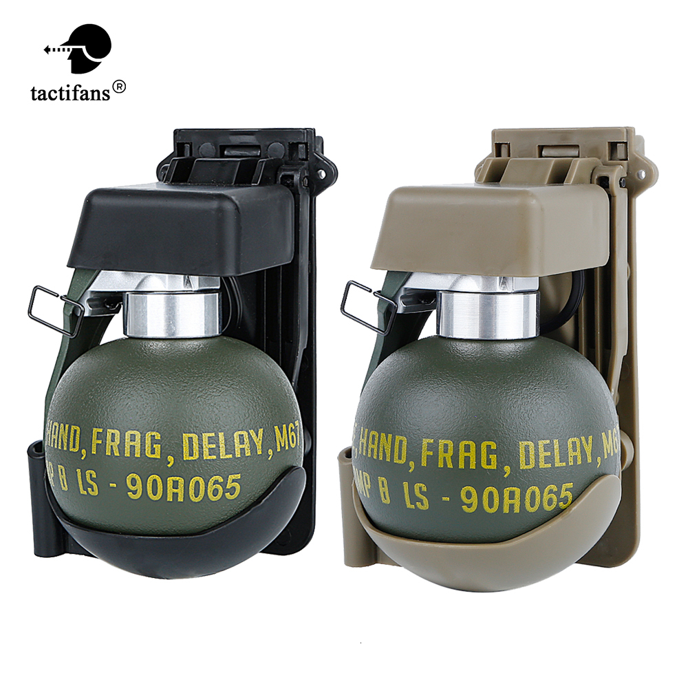 Tactical BB Holder Storage Container Molle Clip Dummy Grenade M67 Model Plastic Costume Military Airsoft Paintball Accessories