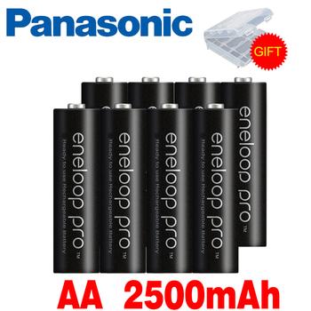 Panasonic Eneloop Original Battery Pro AA 2500mAh 1 2V NI-MH Camera Flashlight Toy Pre-Charged Rechargeable Batteries tanie i dobre opinie AA2500mAh Baterie Tylko Pakiet 1 4-20PCS