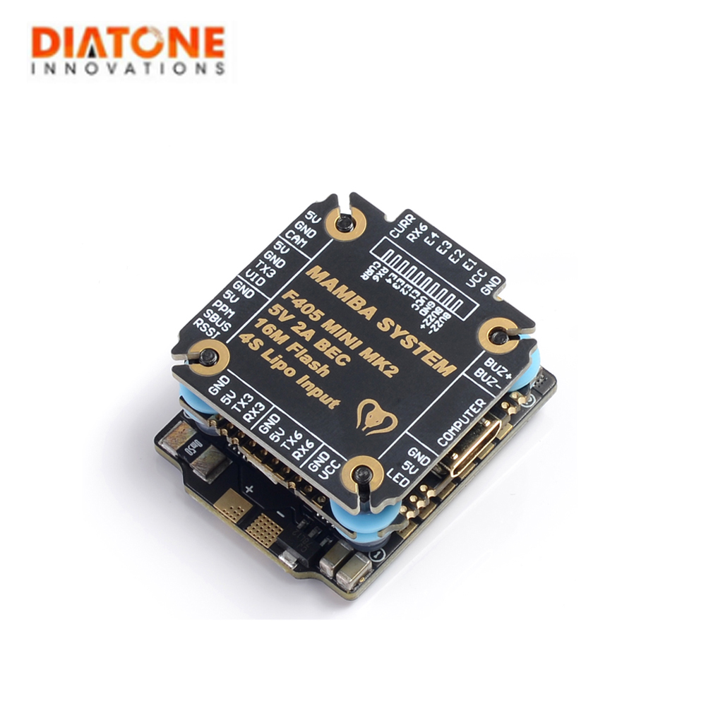 Diatone MAMBA F405 Mini MKII Betaflight Flight Controller & <font><b>25A</b></font> <font><b>ESC</b></font> 2-4S DSHOT600 stack FPV Racing Brushless <font><b>ESC</b></font> For RC image