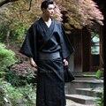 Традиционное японское кимоно Yukata для мужчин, 95% хлопок, халат, мужской халат с поясом размера плюс, летний пижамный комплект