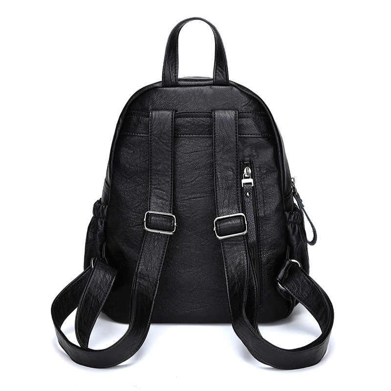 Kadın hakiki deri sırt çantaları kadın okul çantası sırt çantası okul çantaları seyahat omuz çantası kadın rahat okul bayanlar C1149