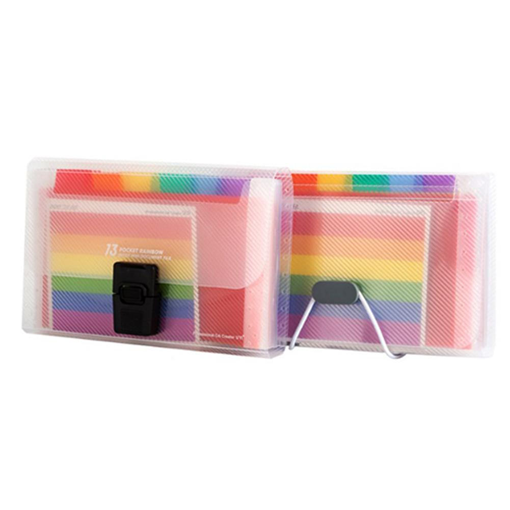 A6 File Folder, 13 Pockets Rainbow Expanding Folder Mini Index Accordion Folder Organizer For Files Documents Cards Certificates