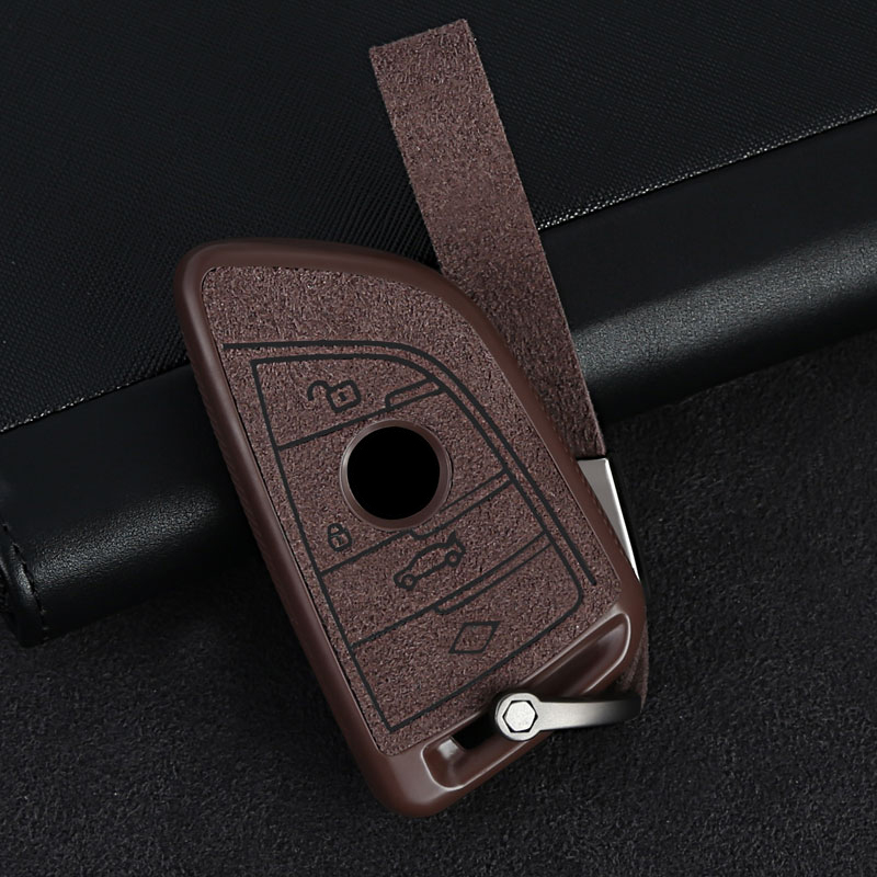 leather Car key Case Cover For BMW X5 F15 G05 X6 F16 1 2 5 7 Series F20 F10 F18 G11 X1 F48 X2 F39 X3 G01 F25 X4 G02 Accessories