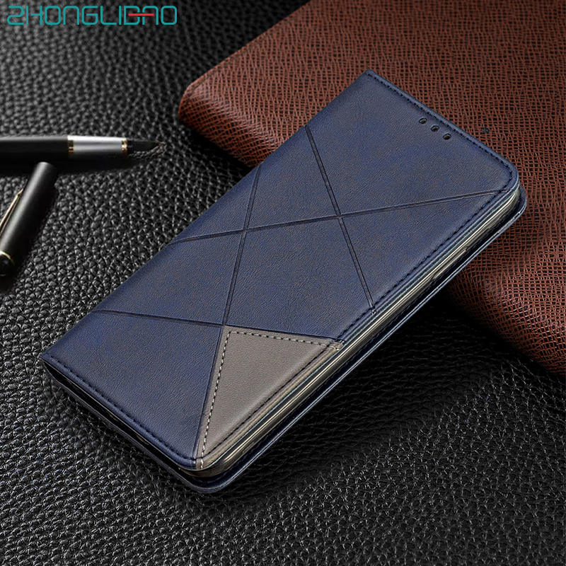 Luxury Leather Flip Case for Huawei P30 Mate 30 Honor 9x Pro P Smart Z Plus P20 Lite Y5 Y6 <font><b>Y7</b></font> <font><b>2019</b></font> 2018 Card Slot Wallet Cover image