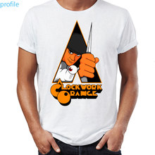Camisetas de estilo Hip Hop para hombre, ropa con estampado de la obra de arte impresionante de Kubrick naranja, mecánica de calle, Tops y camisetas Swag