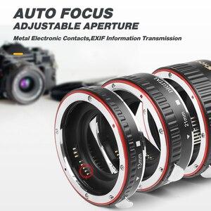 Image 3 - SHOOT Red Metal TTL Auto Focus Macro Extension Tube Ring for Canon 600D 550D 200D 800D EOS EF EF S 6D for Canon Camera Accessory