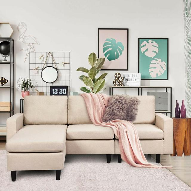 Sectional Fabric L-Shaped Couch  4