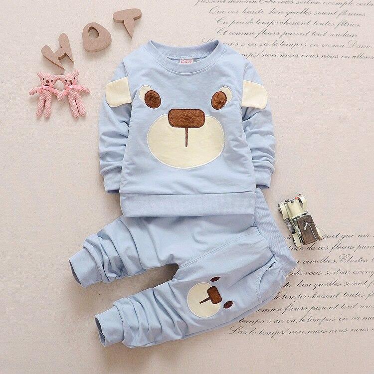 2020 outono da crianca do bebe meninos meninas roupas tshirt calcas 2pc roupas esporte criancas terno