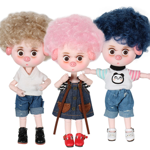 Image 5 - 1/12 BJD Dolls 26 ball joint body 15CM Mini Doll Lucky Pig ob11 DBS Doll with Equipment Shoes Makeup Set Gift Toy