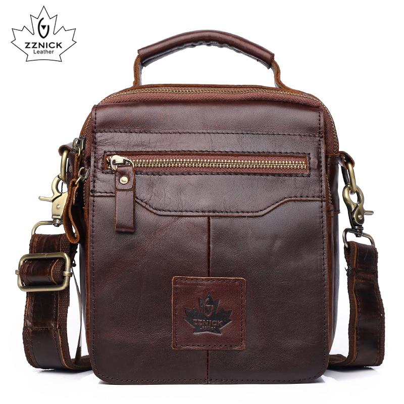 Men's Messenger Bag Shoulder Bag Genuine Leather Bags Male High Quality Fashion Flap Belt Crossbody Bags Luxury Handbag ZZNICK