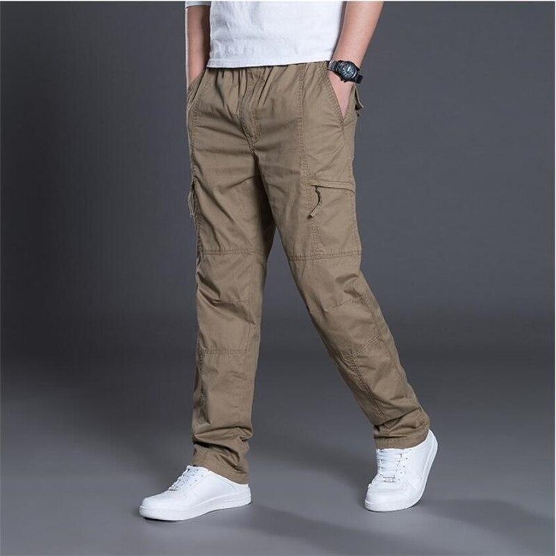 Tide Men Cargo Pants Cotton Trousers Overalls Casual Straight Pants Men Baggy Combat Military Tactical Pants Plus Size 5XL 7XL