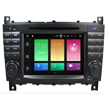 Car Multimedia Player GPS Android 10 2Din DVD Automotivo For Mercedes/Benz/C-Class CLC W203 C180 C200 CLK W209 Radio DSP image