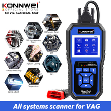 KONNWEI KW450 OBD2 Diagnostic Tool for VAG Cars VW Audi ABS Airbag Oil ABS EPB DPF SRS TPMS Reset Full Systems Scanner VAG COM