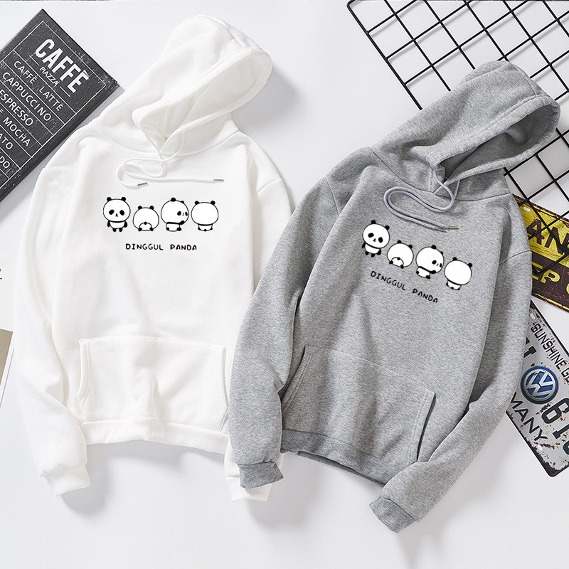 DeRuiLaDy 2019 Mode Paar übergroße Pullover Für Frauen männer Herbst Winter Anime Panda Druck Sweatshirt Casual Hoodie Streetwear