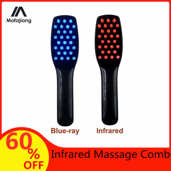 Infrared Massage Comb Magic Vibration Massager Hair Brush Handheld Electric Hair Comb Hair Growth Care Reduce Hair Loss tools laser comb kit power grow laser cure loss therapy laser hair regrow comb massager comb brush drop shipping