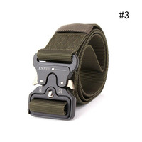 Cinturones ajustables de lona militar para hombre, cinturones elásticos de combate de alta calidad, resistentes al desgaste, cinturón táctico de adiestramiento al aire libre