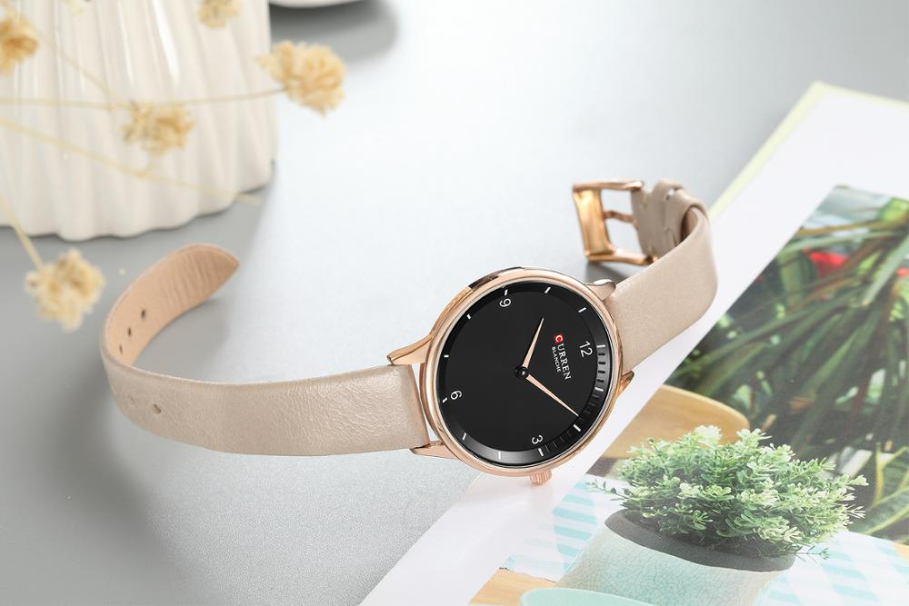 CURREN Women Watches 2019 Simple Fashion Design Wrist Watch Leather Strap Waterproof Casual High Quality Quartz Watch Hardlex in Women 39 s Watches from Watches