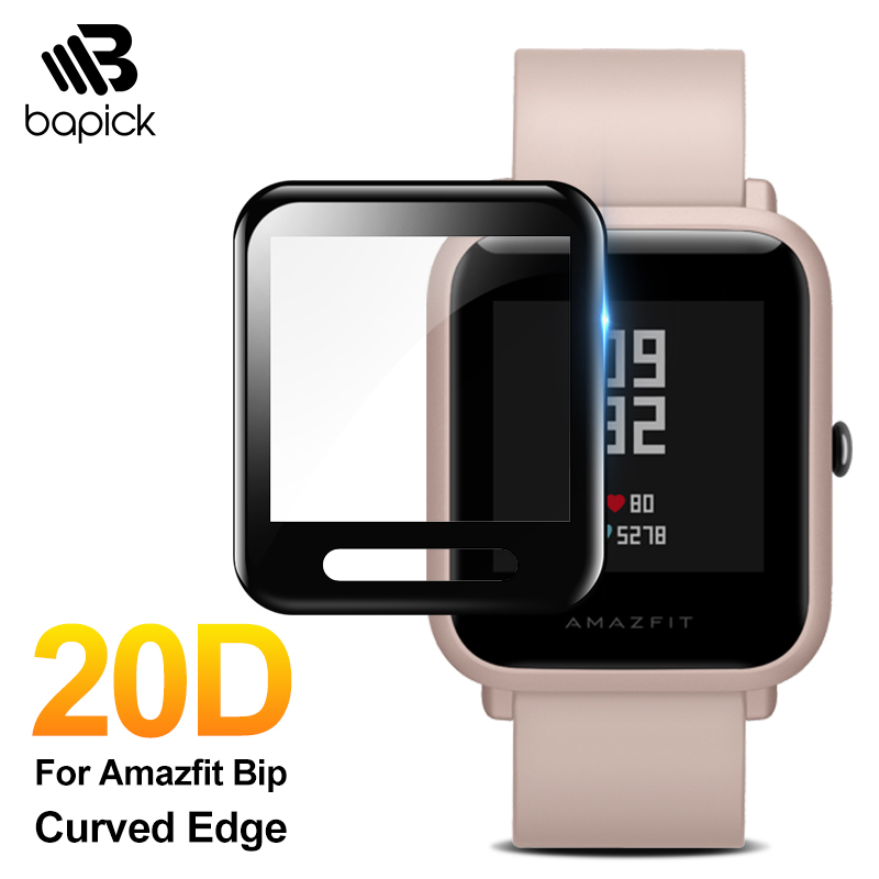 BAPICK Protective Glass For Xiaomi Amazfit Bip Film Glass Full Cover Huami Amazfit Bip Screen Protector Protection Accessories