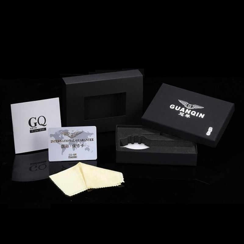 女性腕時計 2019 guanqin GS19122 クォーツの高級ブランドレディース腕時計グリーン防水シンプルなファッション腕時計ツールドロップシッピング
