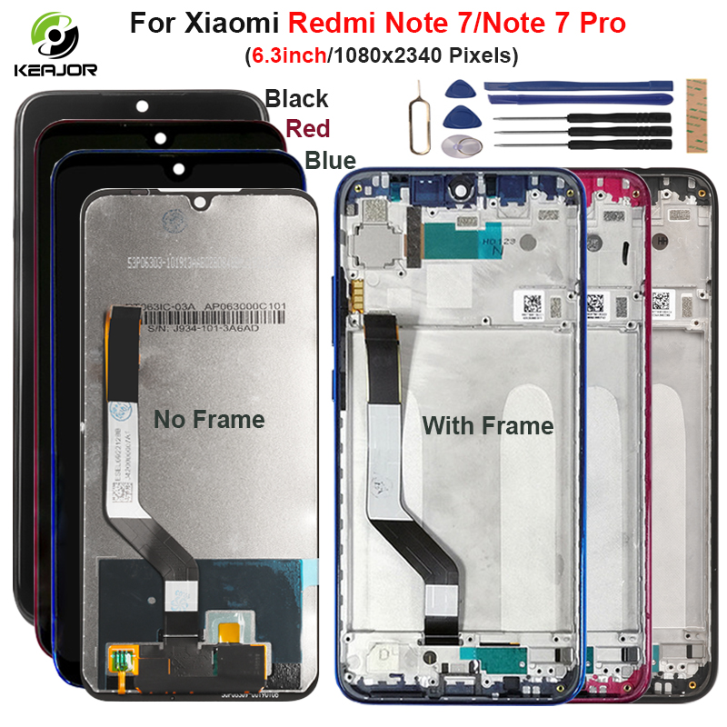 Display For Xiaomi <font><b>Redmi</b></font> <font><b>Note</b></font> <font><b>7</b></font> <font><b>Pro</b></font> <font><b>LCD</b></font> Display Touch Screen With Frame Digitizer Assembly For <font><b>Redmi</b></font> <font><b>Note</b></font> <font><b>7</b></font> Screen Replacement image