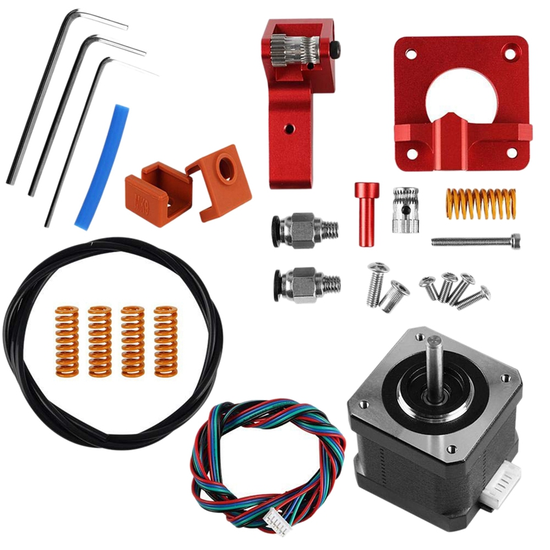 3D Printer Accessories 3 Extruder CR-10 Extruder 42 Stepper Upgraded Motor Kit Aluminum 3D Printer Extruders Spring Double Pulle