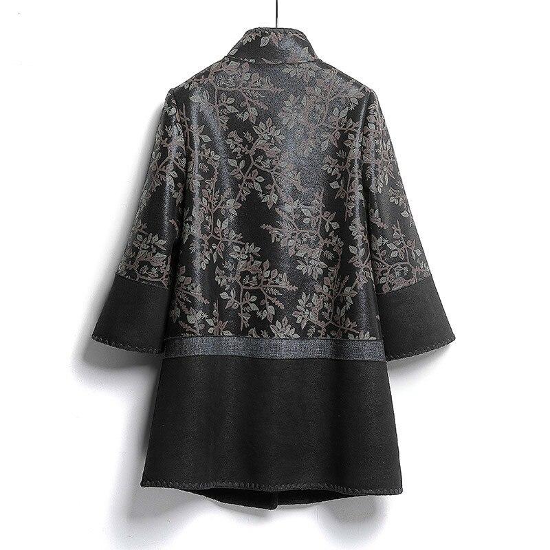 Sheep Shearling Winter Coat Women Real Leather Jacket Vintage Real Fur Coat Women Two Side Wear Plus Size Jacket FL663 YY1047