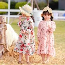 Spring 2020 Children Long Sleeve Chiffon Girl Long Length Princess Dress Toddler