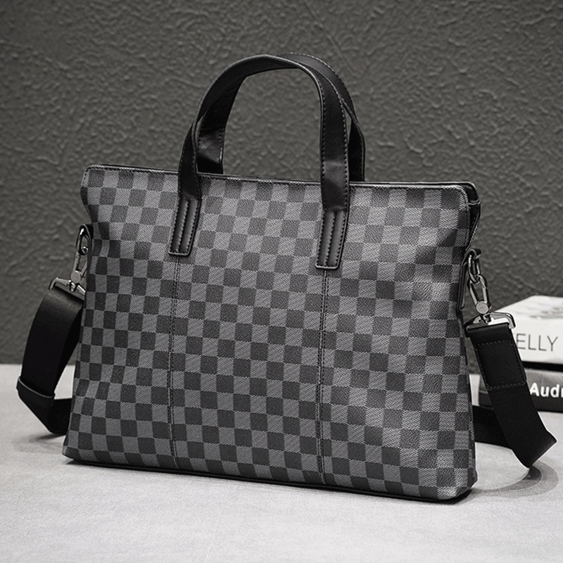 Men Casual Briefcase Business Shoulder Bag Leather Messenger Bags Computer Laptop Handbag Bag Men's Leather Travel Bags