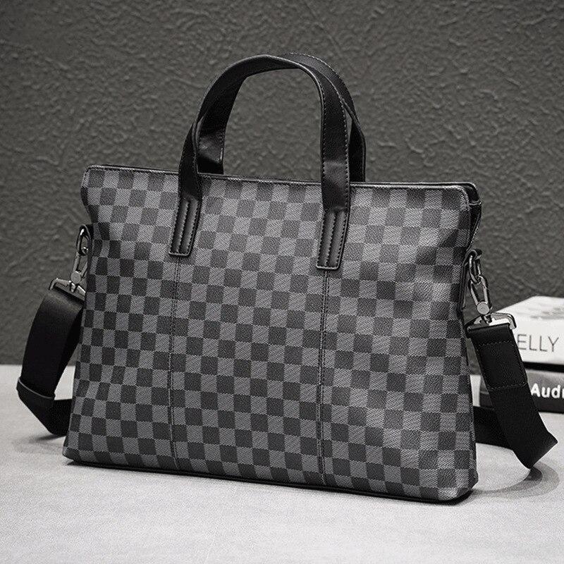 Men Casual Briefcase Business Shoulder Bag Leather Messenger Bags Computer Laptop Handbag Bag Men's Leather Travel Bags