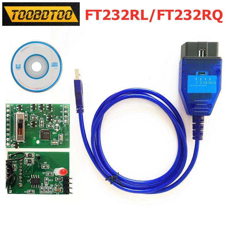 4 способа переключатель чип FT232RL FT232RQ FTDI для Fiat ККЛ VAG 409 OBD2 Автомобильный Диагностический кабель для VAG KKL 409 USB Интерфейс