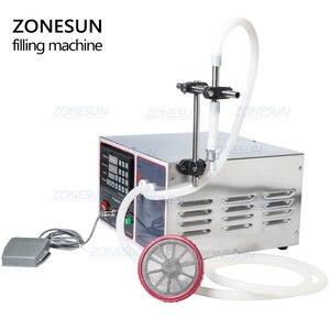 Image 5 - ZONESUN GZ GFK17A חצי אוטומטי מילוי מכונת כביסה בישול שמן מים מיץ אלכוהול חלב נוזלי בקבוק מילוי מכונה